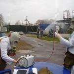 Спасатели учились ликвидировать химическую аварию