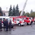 В центре Луцка состоялась выставка пожарной техники