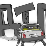 Водитель выехал на встречную полосу и разбился