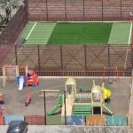 В районе ЛПУ открыли современный спортплощадка