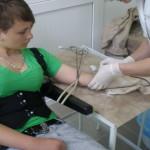В медколледже бесплатно сдавали кровь